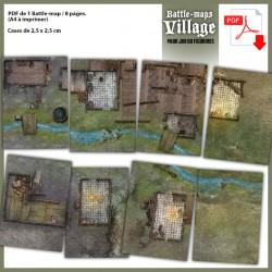 Battle Maps Village PDF A4